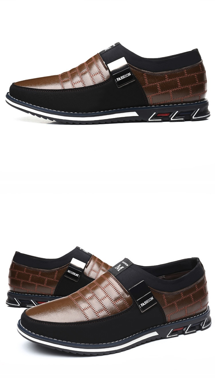 Men's Casual Suede Panelled Slip-One Shoes