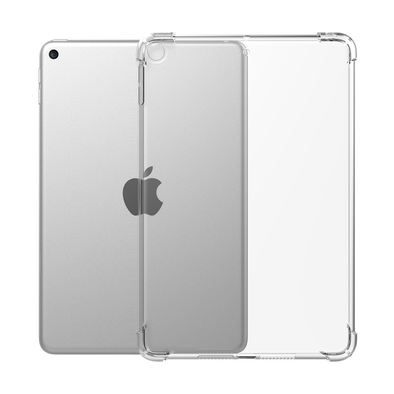 Case for iPad 7th Generation 10.2 2019 Case Transparent Silicone Reinforced Corners TPU Bumper Cover for iPad 10.2 inch Funda