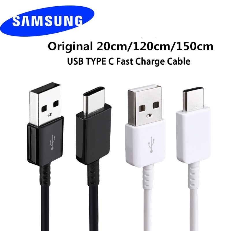 Samsung S8 USB c Type C Cable 20 120 150 CM Fast Charge Data Line For Galaxy S10 9 8 Plus A5 A7 2017 Note 10 8 XIAOMI 9 8 6 5