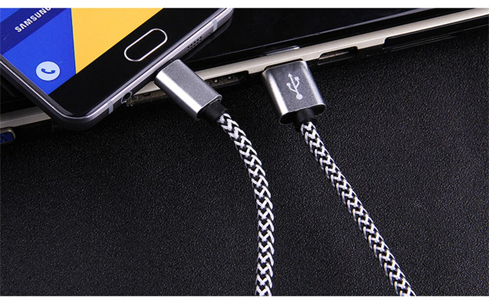 3m Braided Type-C USB Data Charging Cable For Huawei P10 Mate10 Mate20 Honor 20 10 9 8 Samsung S8 S9 Plus OnePlus Android Cables