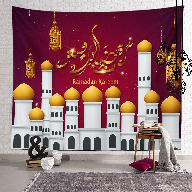 150*200cm ramadan decoration Wall Hanging Tapestry Moon Star eid mubarak decor Happy Ramadan Kareem Decor Festival Supplies