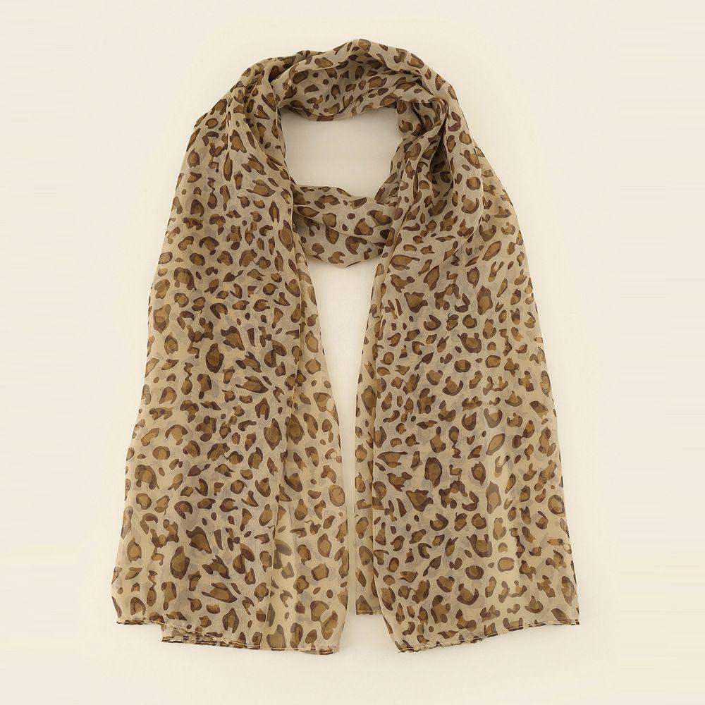 Hot Muslim Fashion Chiffon Scarves Leopard Shawl Tudung Long Wide Printed Voile