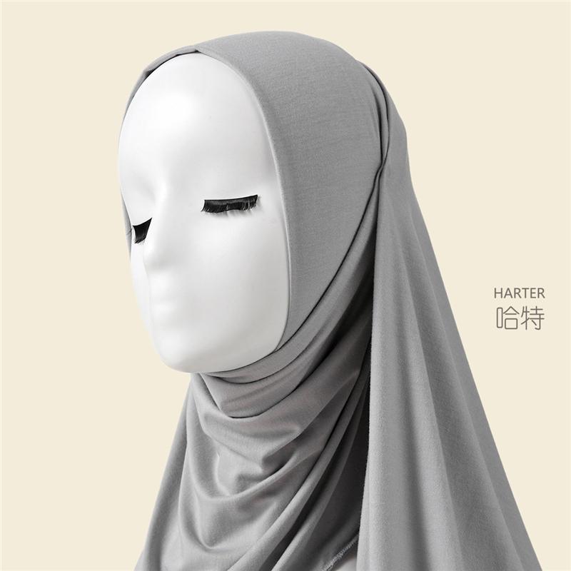 Modal Hijab Adult Casual Scarf Tudung  Muslim Headscarf Women Shawl Malaysia Mosque Travelling Veil Hijab S03