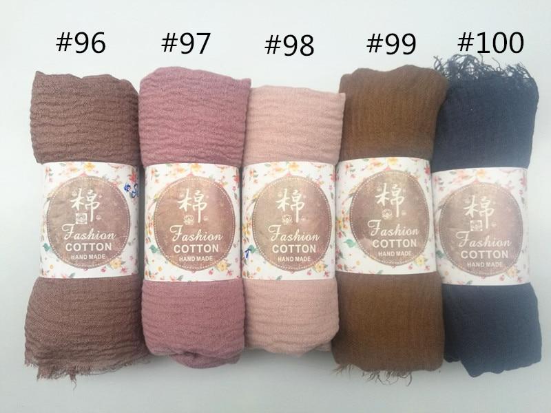 10pcs/lot Plain Wrinkle Wrap Cotton Viscose Long Shawl Scarf Women Crinkle Hijab Shawl Muslim Head Hijab scarf wholesale